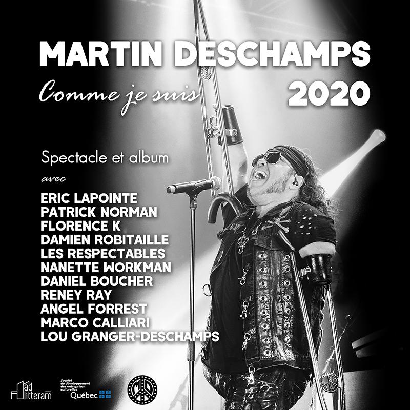 Affiche de concerts pour Martin Deschamps